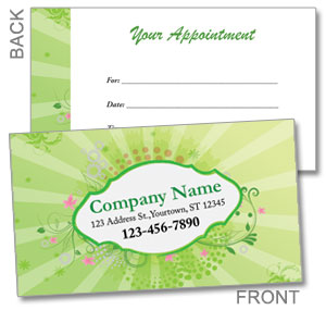 2 Sided appointment cards