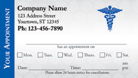 doctor appointment card template