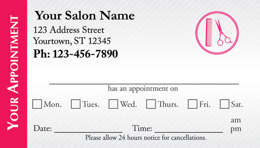 how to take an appointment in a salon